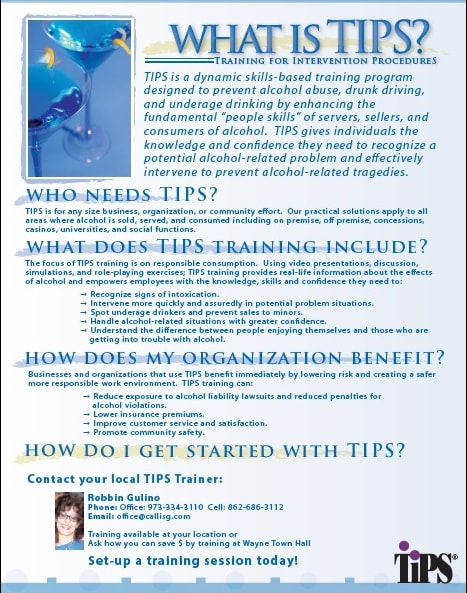 TIPS Bartender Training Classes - Integrated Services Group